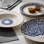 18 Pcs Dark Blue Frills Dinner Set  image number 3