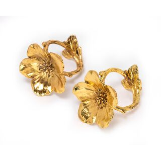 2 Pieces Alloy Napkin Ring Rose Gold