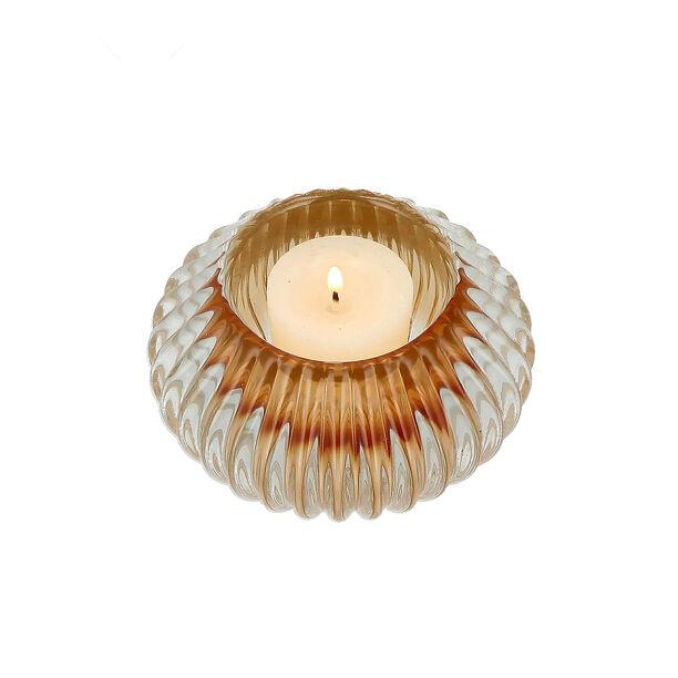 Candle Holder Olive Amber image number 1