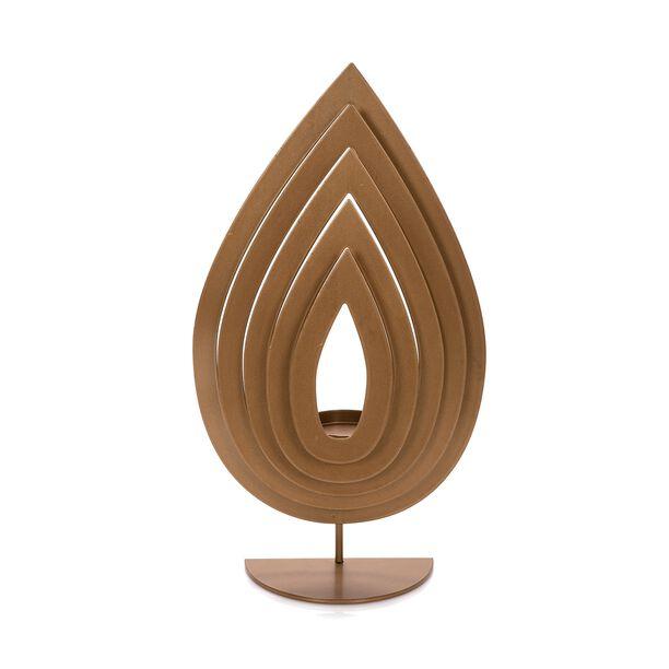 Candle Holder Metal & Glass Gold  image number 0