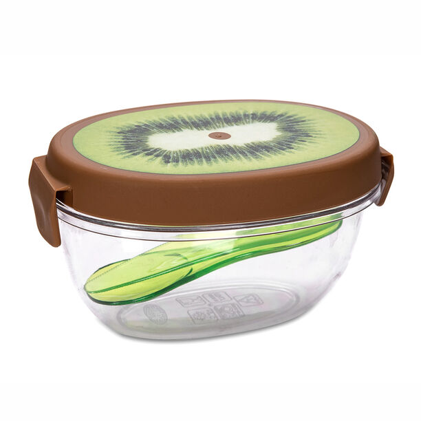 Snips Plastic Kiwi Fruit Saver With Lid Green Color image number 0