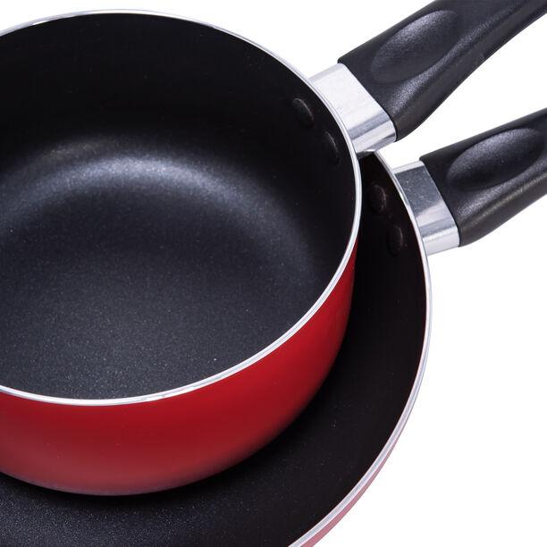 Alberto 2 Pieces Set Fry Pan + Sauce Pan Red  image number 4