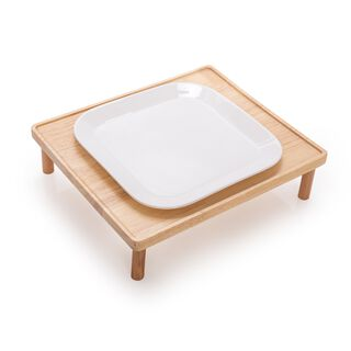 La Mesa Serving Plate With Wooden Base