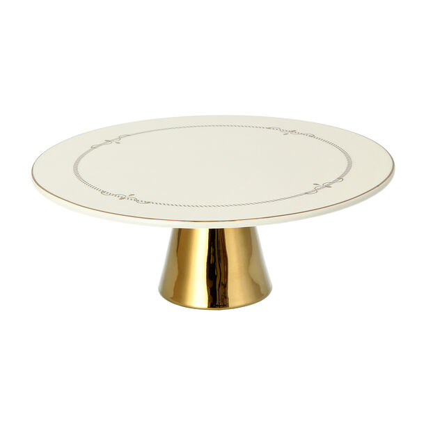 Andalusian Gld Frill Footed Cake Stand image number 1
