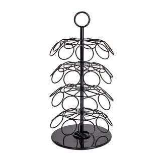 Coffee Capsule Stand 4 Layers With Rotate Base Steel Black Coated