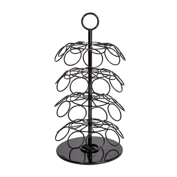 Coffee Capsule Stand 4 Layers With Rotate Base Steel Black Coated image number 0