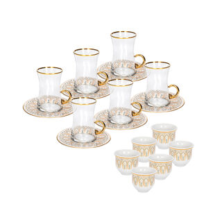18Pcs Porcelain Arabic T&C Nazenin Serve 6 Pink