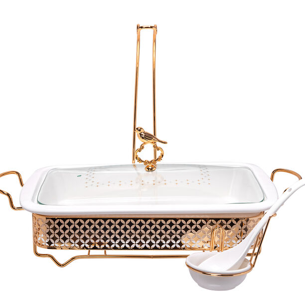Rectangle Food Warmer With Hanger Gold image number 1