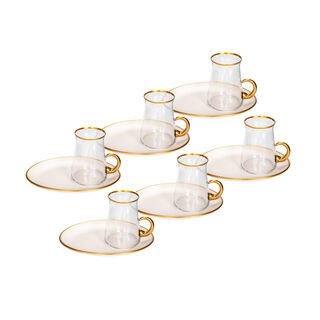 12 Pieces Tea Set Beyaz White