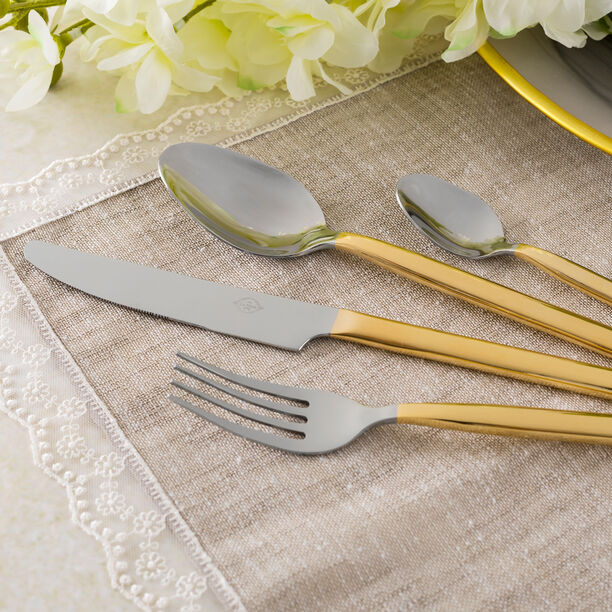 La Mesa Sharon Cutlery Set 16 Pieces Gold image number 2