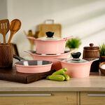 Alberto 7 Pieces Cookware Aluminum Set Pink image number 0