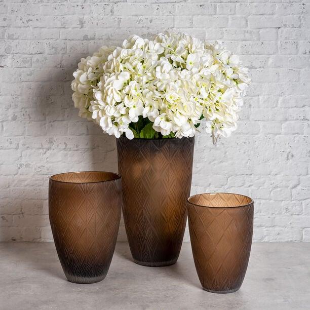 Glass Vase Brown  image number 2