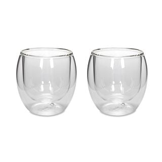 Arabic Coffee Cups Double Wall Glass 2 Pisces