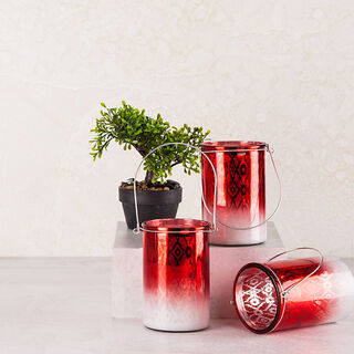 "Candle Holder ""Casablanca"" Red"