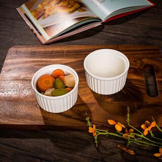 2 Pcs Porcelain Round Ramekin