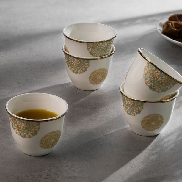 La Mesa Fairouz Gold Coffee Cups Set 12 Pieces image number 2