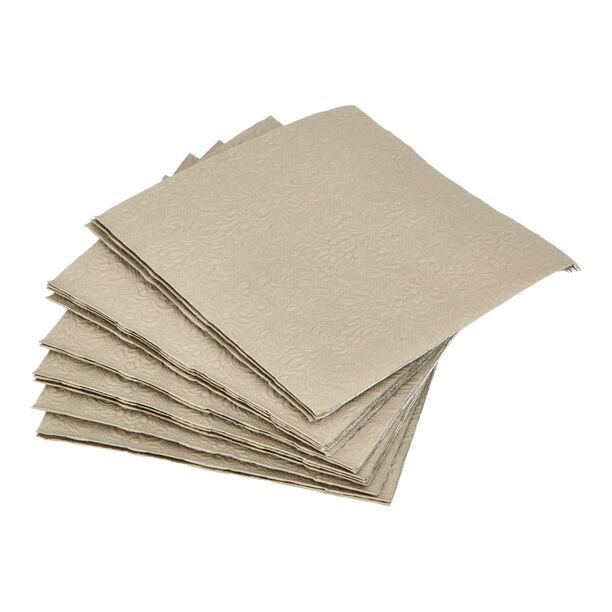 Elegance Serving Napkins Paper Square Taupe image number 0