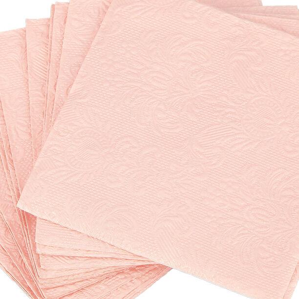 مناديل ورقية مربعة الشكل لون وردي من الجانس  image number 2
