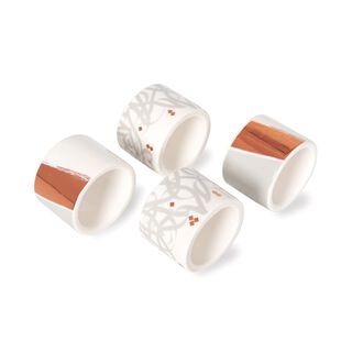 La Mesa Ingenuity Rosegold Napkin Ring 4 Pieces Set