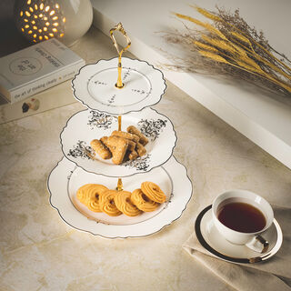 Andalusian Gld Frill 3 Tiers Cake Stand