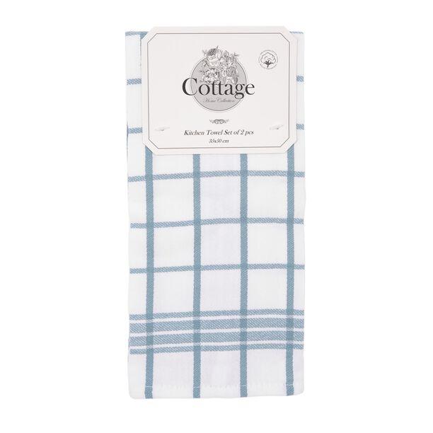 Cottage 2 Pieces Kitchen Towel Set L: 50 * W: 30Cm Summer Sea Design Blue Color image number 0