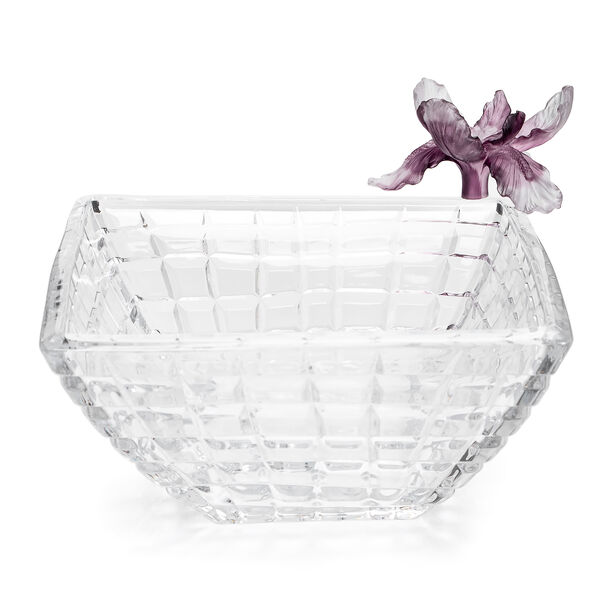 La Mesa Glass Bowl With Violet Crystal Flower 31Cm image number 2