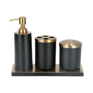 طقم اكسسوارات الحمام 4 قطع أسود