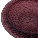 Ashtray Glass Violet With Frosted Finish 190X190X43 Mm image number 2