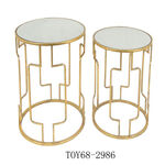 Nested Table Set Of 2 Gold image number 0