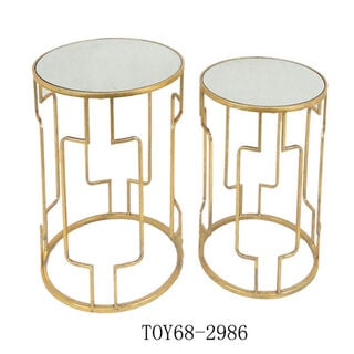 Nested Table Set Of 2 Gold