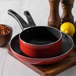 Alberto 2 Pieces Set Fry Pan + Sauce Pan Red  image number 6