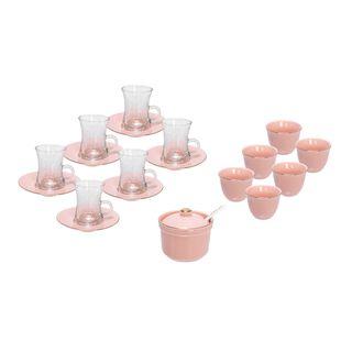 Tea & Arabic Coffee Set 20 Piesec Pink
