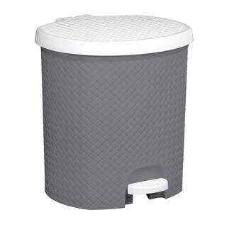 Pedal Bin Woven Grey 6.5L