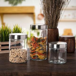 Alberto Container Set 3 Pieces Glass