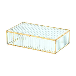 Glass Jewelry Box 24X14X6.5 Cm