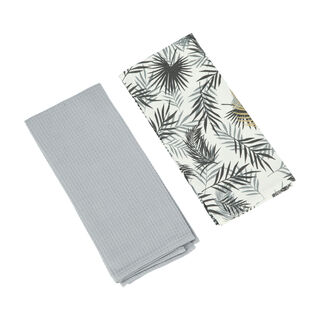 Alberto 2 Pieces Kitchen Towel Set L- 60 * W- 40Cm -  Leaf  Design