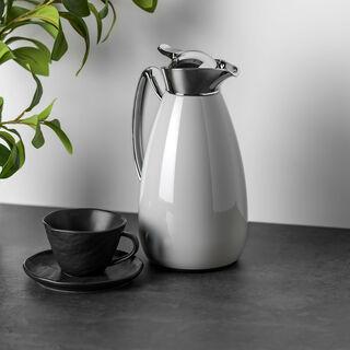 Dallety Steel  Flask Grey/Chrome  1L