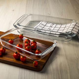 Alberto Value Pack 3Pcs Rectangular Glass Roasters (V:1.6 + V:2.2 + V:3 L)