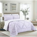 Cottage Comforter Set King Size 5 Pieces Camlica Purple  image number 0