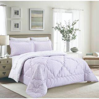 Cottage Comforter Set King Size 5 Pieces Camlica Purple
