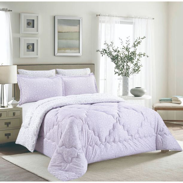 Cottage 3 Pieces Comforter Set Twin Size Camlica Purple  image number 0