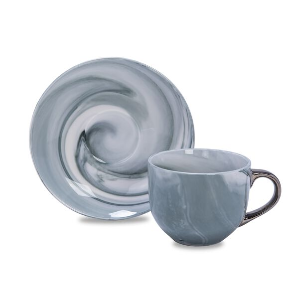 La Mesa Marble With Silver Coffee Set 12 Pieces  image number 2
