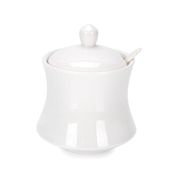 Sugar Pot 1Pc Porcelain White image number 0