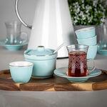 طقم شاي و قهوة عربي 20 قطعة لون أزرق فاتح image number 2