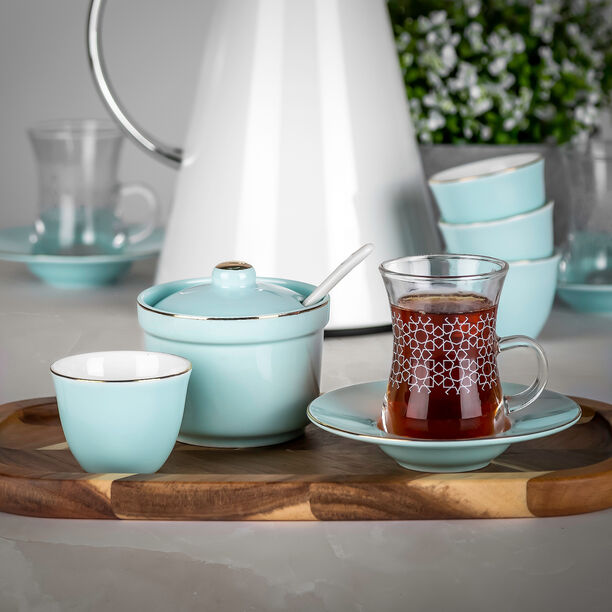 Tea And Coffee Set Of 20 Pieces Light Blue image number 2