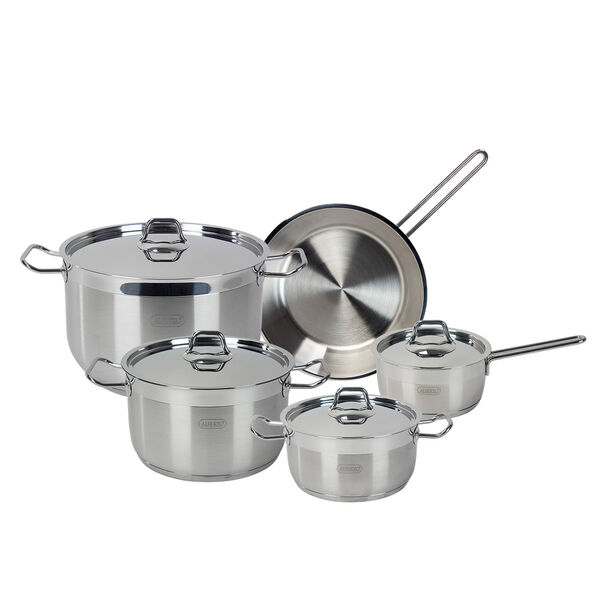 Alberto Stainless Steel Cookware Set 9 Pieces image number 0