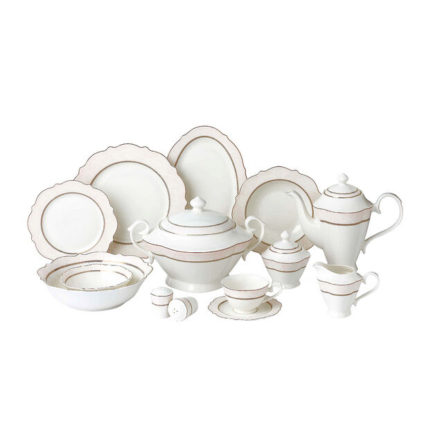 85 Pcs Porcelain Dinner Set image number 0