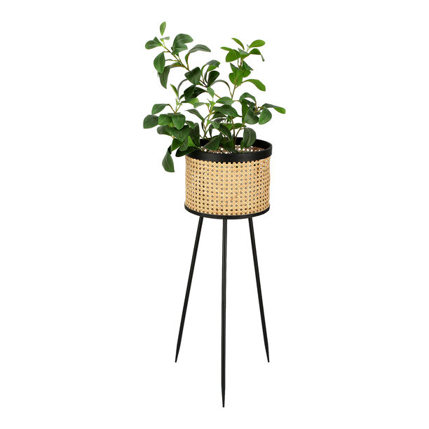 Planter With Stand White 27*27*80 Cm image number 1