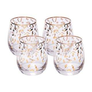 La Mesa 1 Piece Glass Tumblers Tashkeel Gold