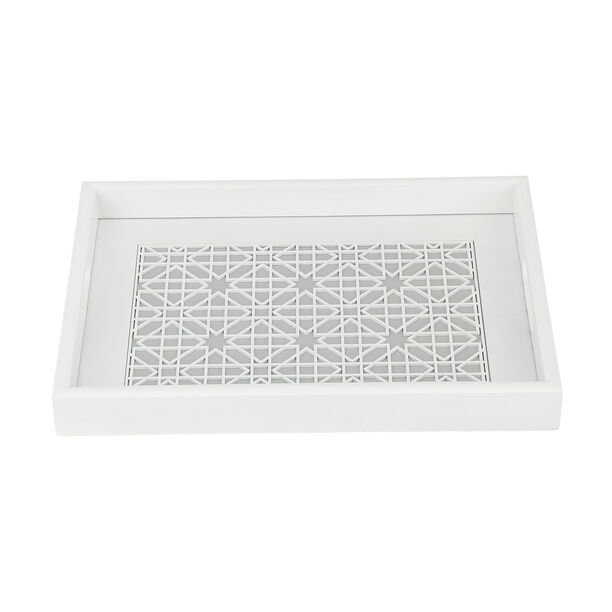 Wood Tray Pp 1Pc White Gray image number 3